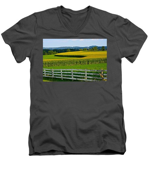 Shapely Cornfield 1 Men's V-Neck T-Shirt