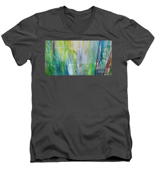 Shapes And Colors Men's V-Neck T-Shirt by Dan Whittemore