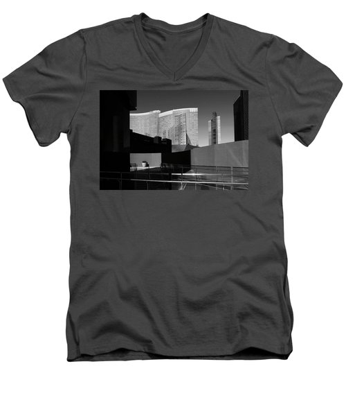 Shapes And Shadows 3720 Men's V-Neck T-Shirt