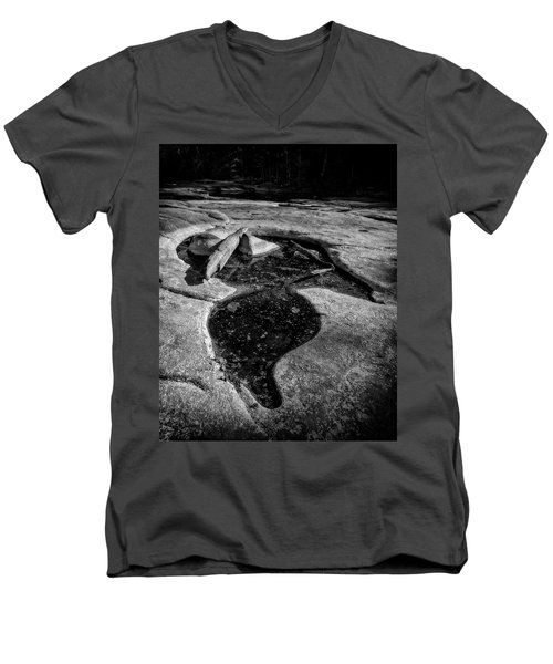 Men's V-Neck T-Shirt featuring the photograph Shapes And Shadows by Alan Raasch