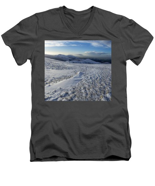 Shapes In The Ice And Far Away Men's V-Neck T-Shirt