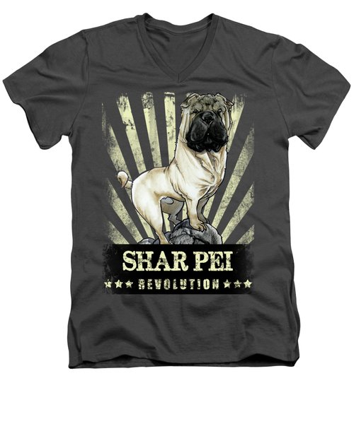Shar Pei Revolution Men's V-Neck T-Shirt