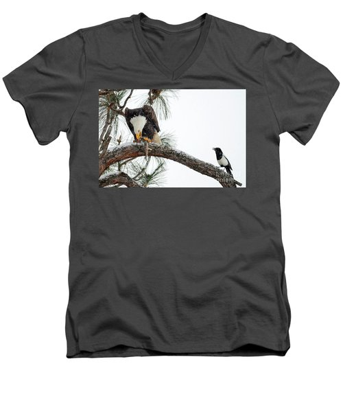 Share The Wealth Men's V-Neck T-Shirt by Mike Dawson