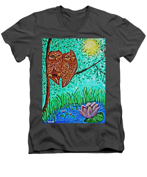 Shared Moonlight Men's V-Neck T-Shirt