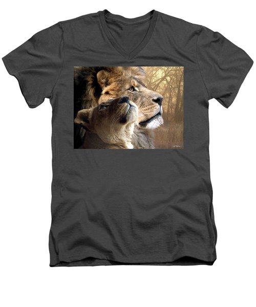 Sharing The Vision Men's V-Neck T-Shirt by Bill Stephens