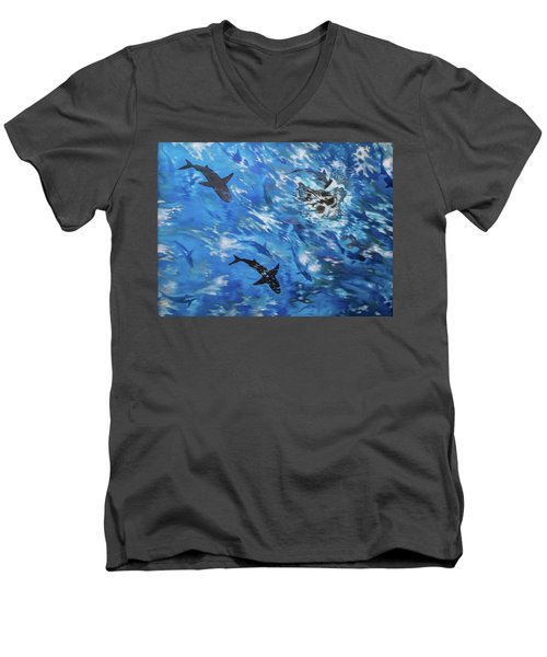 Sharks#3 Men's V-Neck T-Shirt