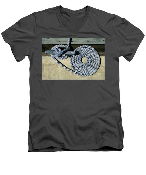 Sharon Hudson Marine Abstract - Coiled Ropes Men's V-Neck T-Shirt