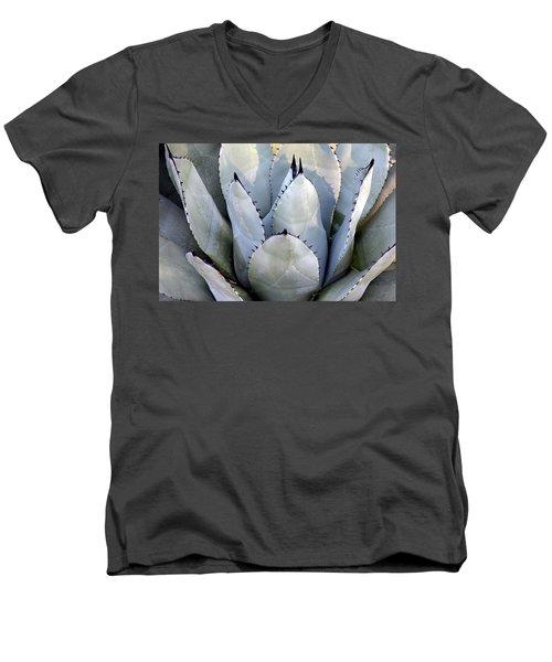 Men's V-Neck T-Shirt featuring the photograph Sharp by Deborah  Crew-Johnson