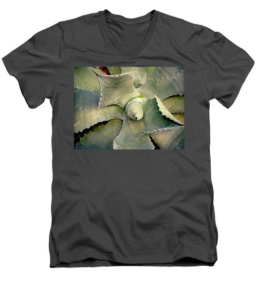 Sharp Embrace 8 Men's V-Neck T-Shirt by Lynda Lehmann