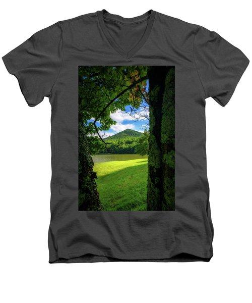 Sharp Top Through The Trees Men's V-Neck T-Shirt