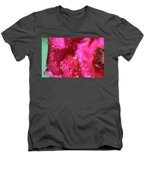 Sharp Wet Rose Men's V-Neck T-Shirt