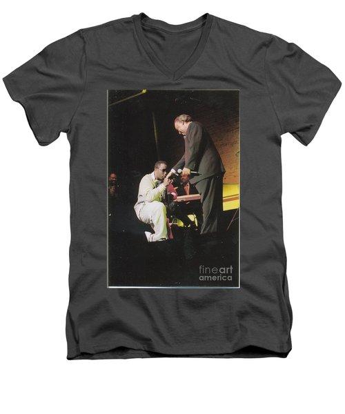 Sharpton 50th Birthday Men's V-Neck T-Shirt by Azim Thomas