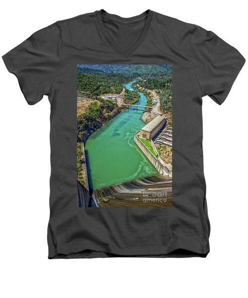 Shasta Lake Dam Men's V-Neck T-Shirt