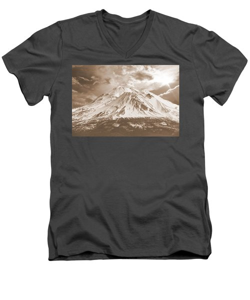 Shasta Mt Men's V-Neck T-Shirt