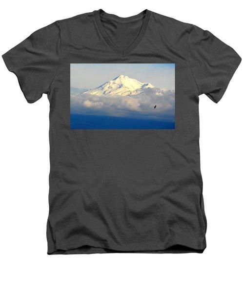 Shasta Near Sunset Men's V-Neck T-Shirt