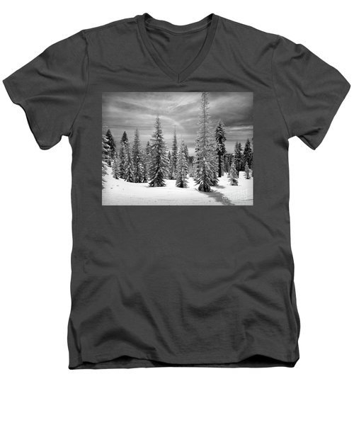 Shasta Snowtrees Men's V-Neck T-Shirt