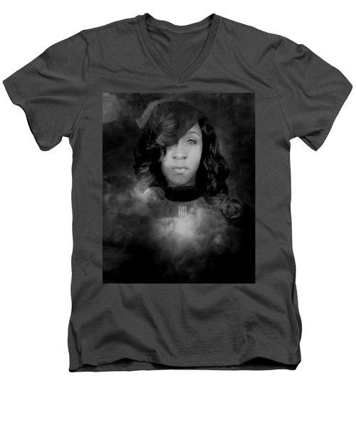 Shavon Portrait Men's V-Neck T-Shirt