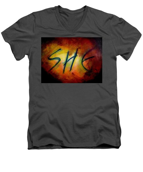 She Men's V-Neck T-Shirt