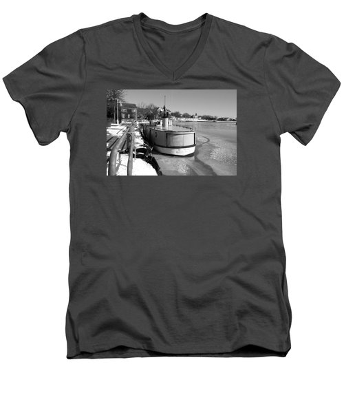 Men's V-Neck T-Shirt featuring the photograph Sheboygan Riverwalk No.1,sheboygan Riverwalk No.5379ssheboygan Riverwalk No.1,sheboygan Riverwalk No by Janice Adomeit