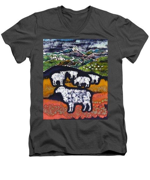 Sheep At Midnight Men's V-Neck T-Shirt