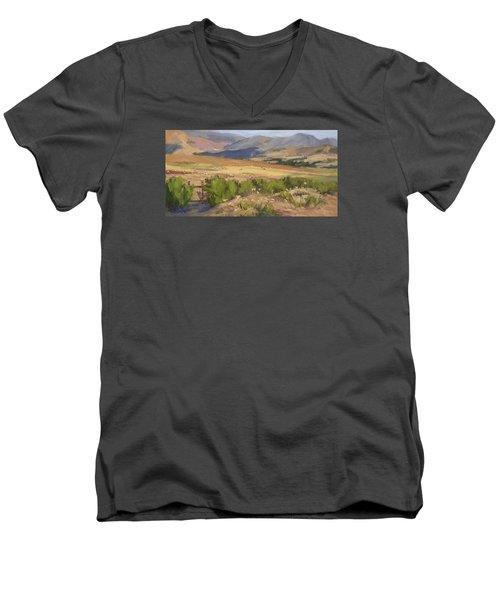 Sheep Gate Men's V-Neck T-Shirt by Jane Thorpe