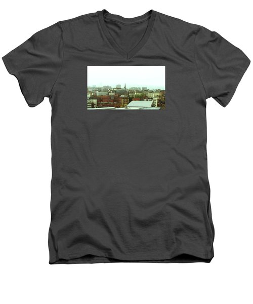 Men's V-Neck T-Shirt featuring the photograph Sheffield Skyline by Anne Kotan