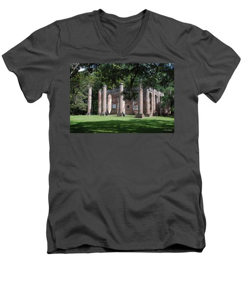 Sheldon Church 1 Men's V-Neck T-Shirt by Gordon Mooneyhan