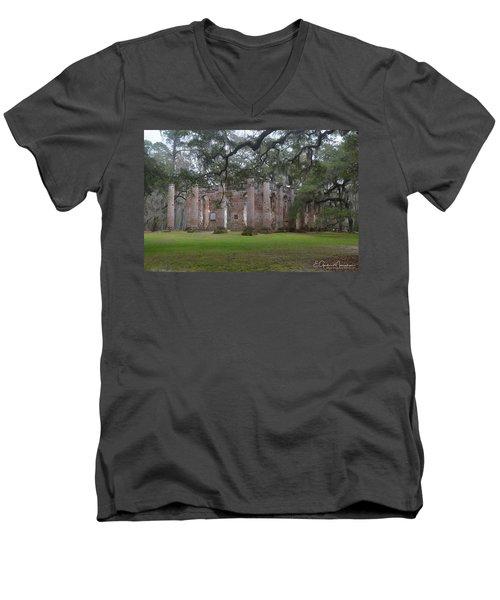 Sheldon Church 6 Men's V-Neck T-Shirt by Gordon Mooneyhan