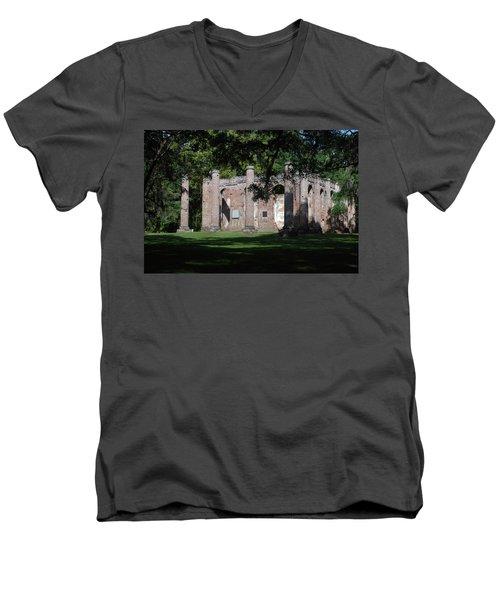 Sheldon Church 7 Men's V-Neck T-Shirt by Gordon Mooneyhan