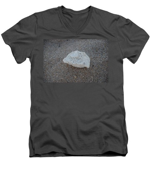 Men's V-Neck T-Shirt featuring the photograph Shell And Sand by Rob Hans
