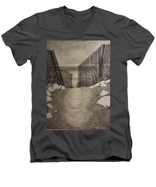 Shell Path Men's V-Neck T-Shirt