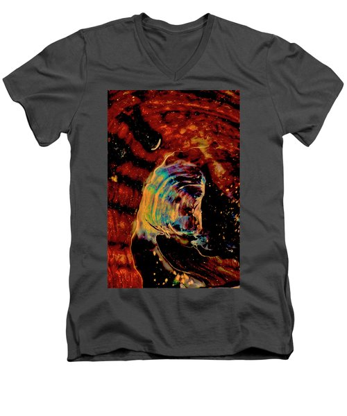 Shell Space Men's V-Neck T-Shirt by Gina O'Brien