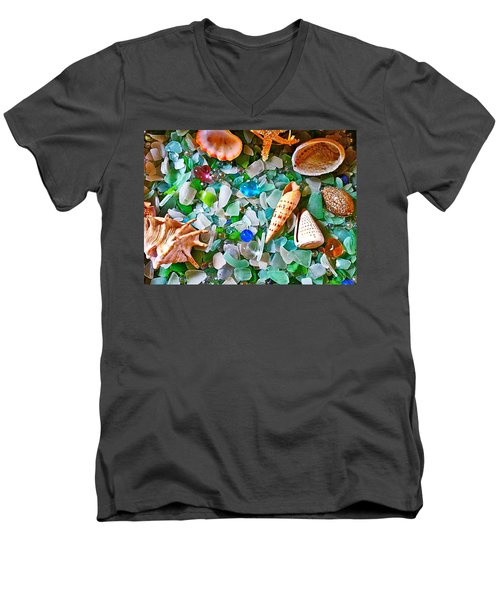 Shells And Glass Men's V-Neck T-Shirt