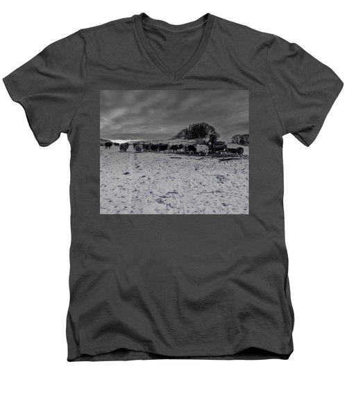 Men's V-Neck T-Shirt featuring the photograph Shepherds Work by Keith Elliott