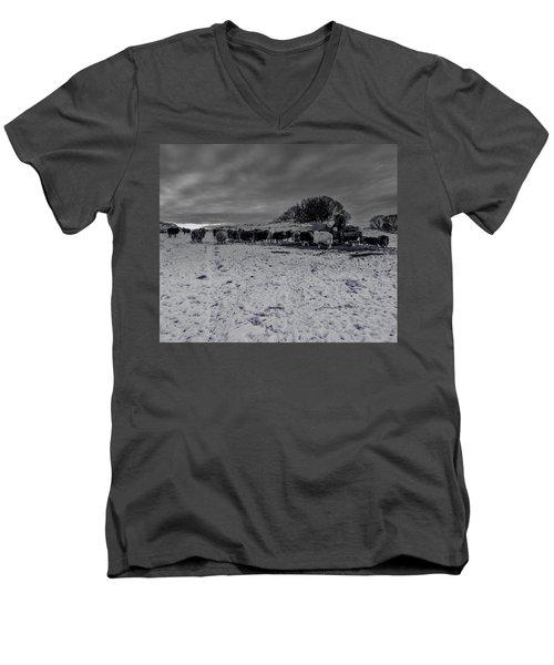 Shepherds Work Men's V-Neck T-Shirt by Keith Elliott
