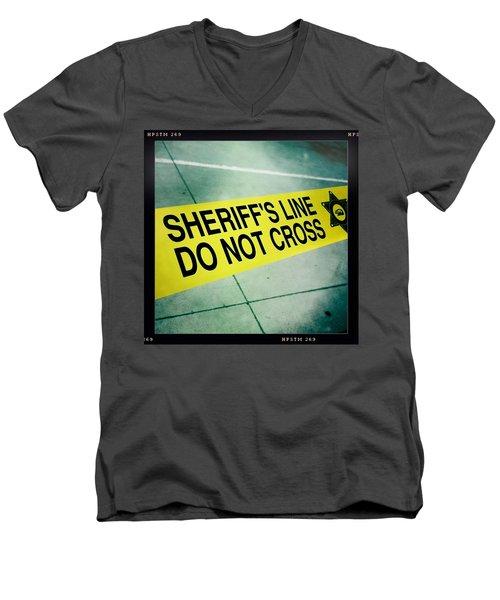 Sheriff's Line - Do Not Cross Men's V-Neck T-Shirt