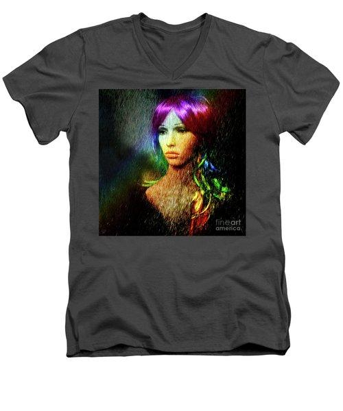 She's Like A Rainbow Men's V-Neck T-Shirt