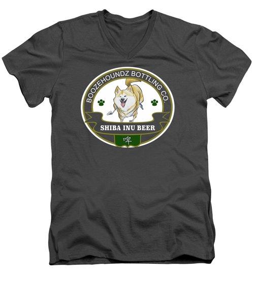 Shiba Inu Beer Men's V-Neck T-Shirt