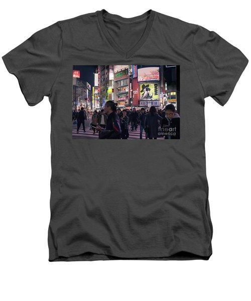 Shibuya Crossing, Tokyo Japan 3 Men's V-Neck T-Shirt