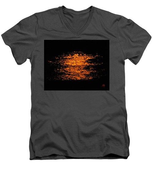 Shimmer Men's V-Neck T-Shirt by Linda Hollis