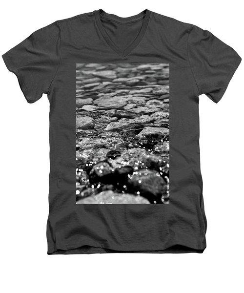Shimmering Waters In Spring Men's V-Neck T-Shirt