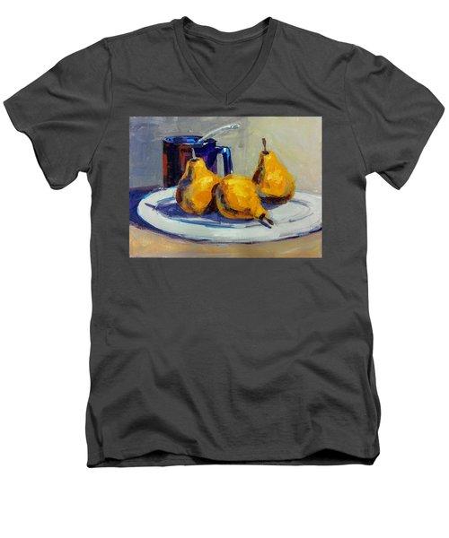 Shiney Blue Mug Men's V-Neck T-Shirt