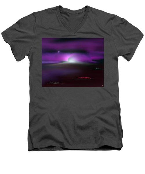 Shining Star Men's V-Neck T-Shirt by Yul Olaivar