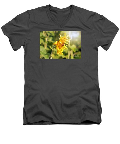 Men's V-Neck T-Shirt featuring the photograph Shining Sun by Lila Fisher-Wenzel