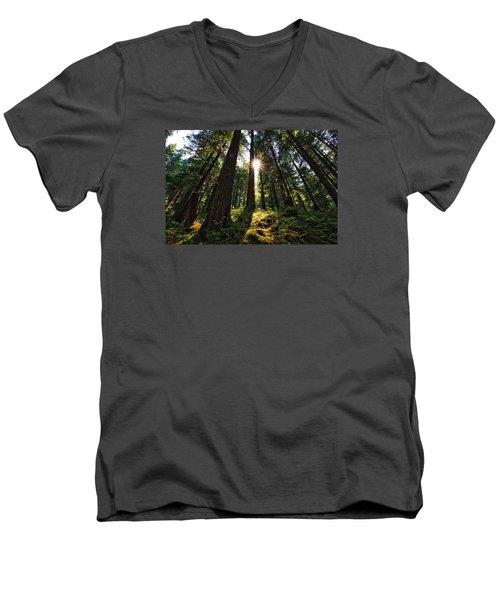 Men's V-Neck T-Shirt featuring the photograph Shining Through by Lynn Hopwood