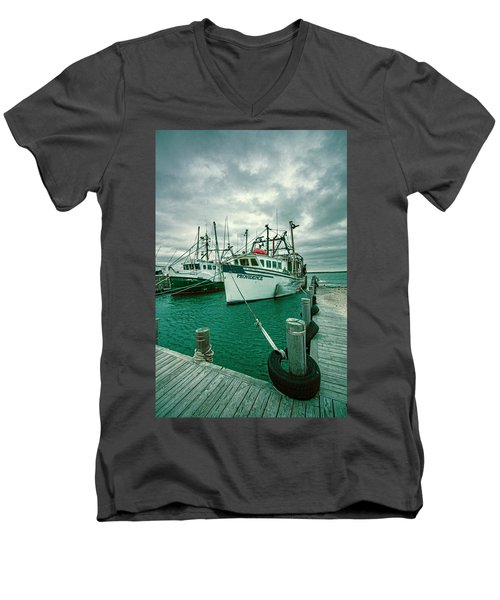 Shinnecock Fishing Vessels Men's V-Neck T-Shirt