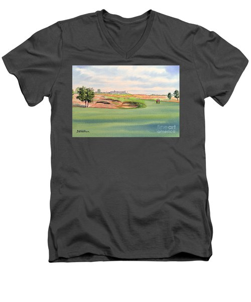 Shinnecock Hills Golf Course Men's V-Neck T-Shirt