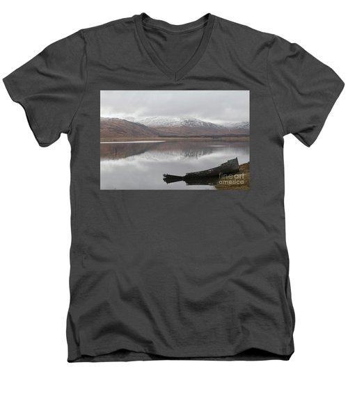 Ship Reck On Isle Of Mull Men's V-Neck T-Shirt
