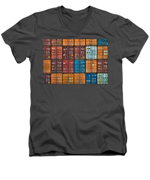 Shipping Containers Men's V-Neck T-Shirt