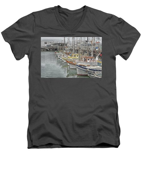 Ships In The Harbor Men's V-Neck T-Shirt